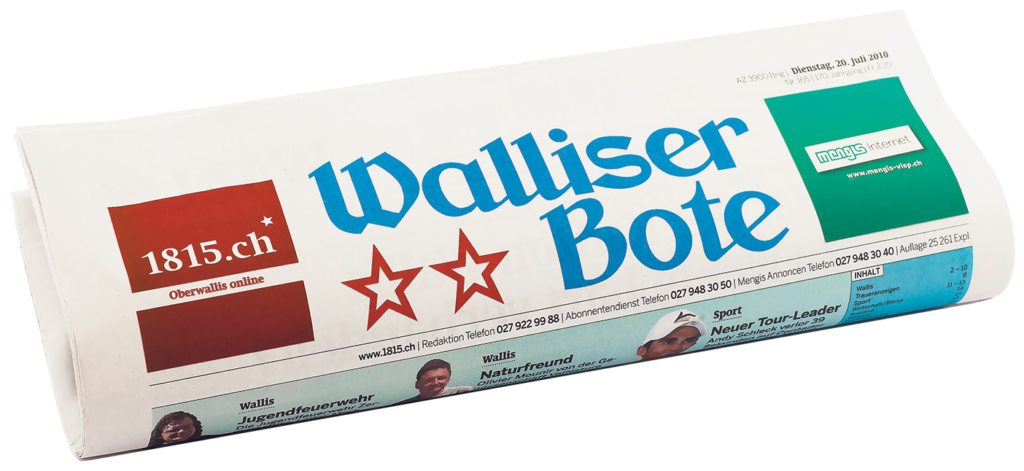 Walliser Bote transparent